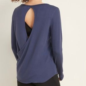 Old Navy Active Relaxed Cutout Back Terry Top